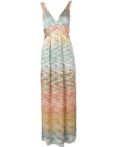 Платье с открытой спиной с V-образным вырезом Missoni