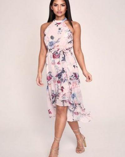 Платье с поясом без рукавов на пуговицах Lipsy