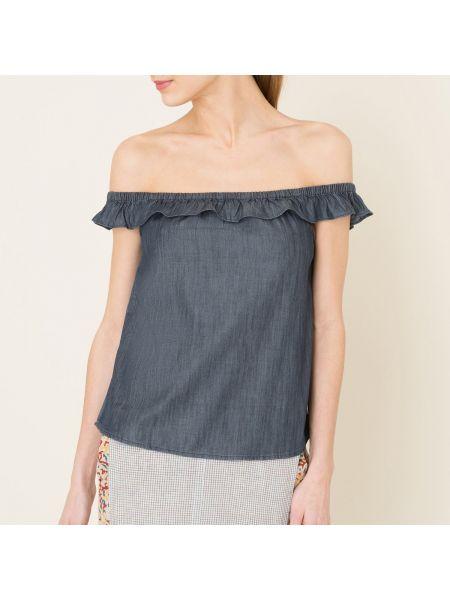 Блузка без рукавов на резинке хлопковая Denim & Supply Ralph Lauren