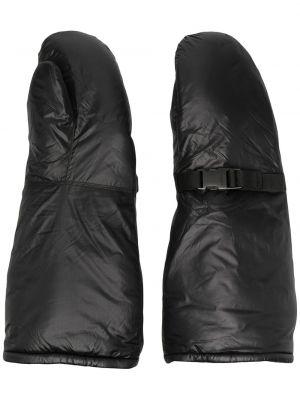Czarne rękawiczki klamry z nylonu Takahiromiyashita The Soloist