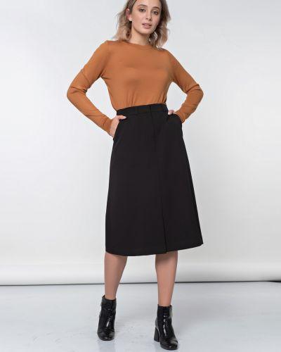 Костюмная прямая юбка на резинке Jetty