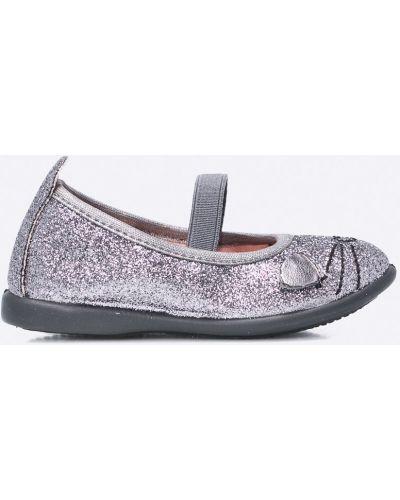 Балетки текстильные серебряный Gioseppo