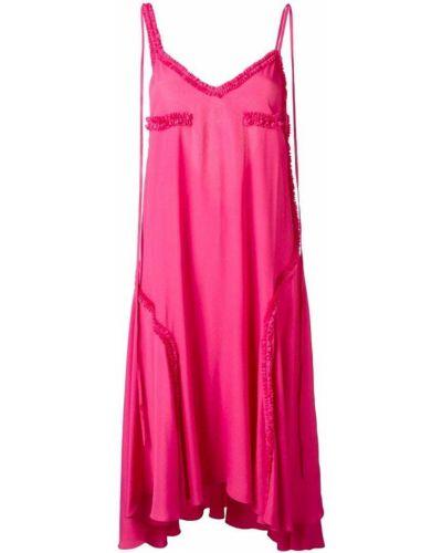 Платье с оборками шелковое Cédric Charlier