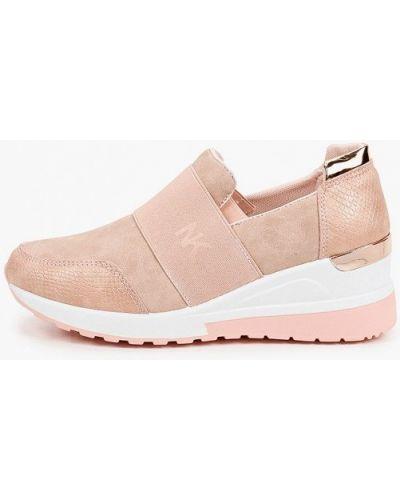 Розовые кожаные кроссовки Sergio Todzi