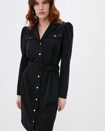 Черное платье-рубашка Rinascimento