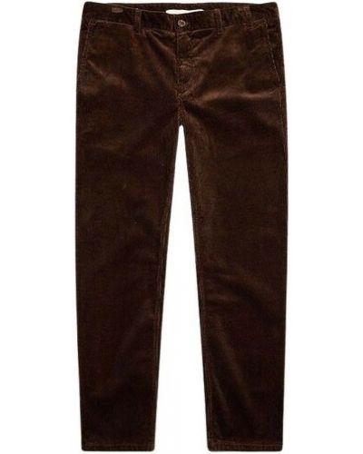 Spodnie sztruksowe - brązowe Norse Projects