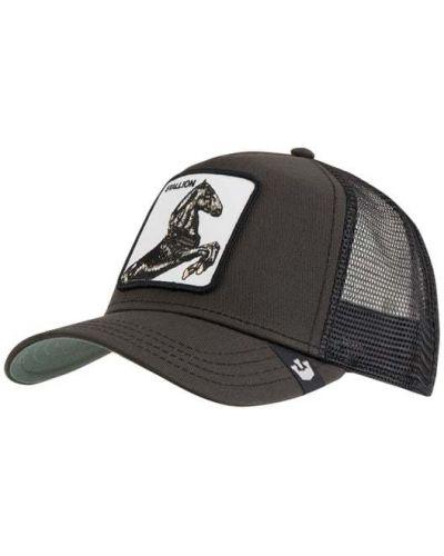 Bawełna bawełna czarny czapka z aplikacjami Goorin Bros