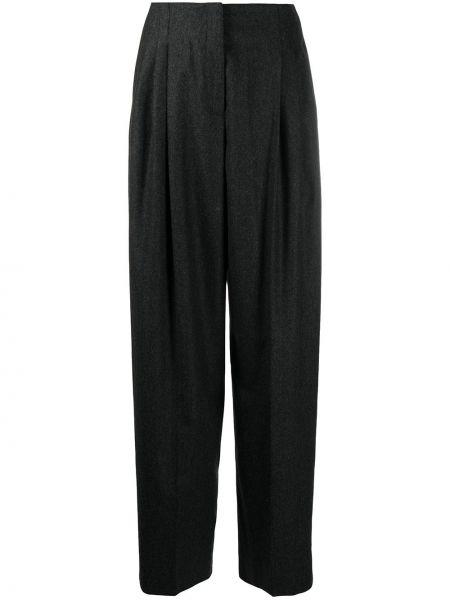 Серые свободные брюки с карманами свободного кроя с высокой посадкой Agnona