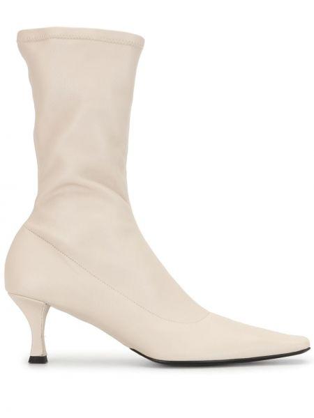 Bawełna bawełna buty obcasy na pięcie z falbankami Proenza Schouler