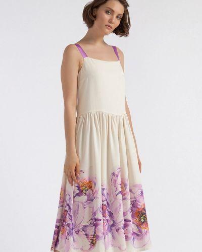 Платье миди платье-сарафан бежевое Lova