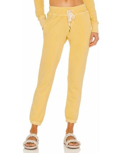 Żółte spodnie bawełniane Nsf