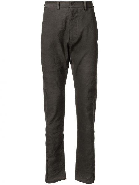 Серые деловые брюки на пуговицах с карманами Poème Bohémien