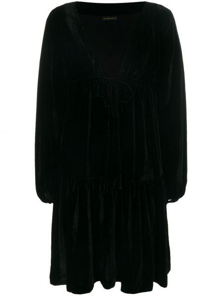 Платье с запахом - черное Plein Sud