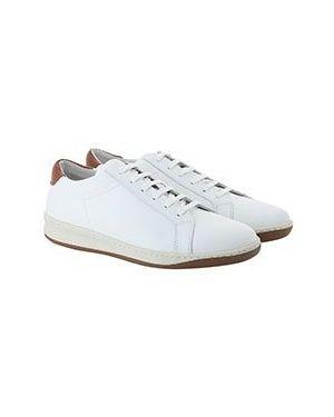 Белые кожаные кеды Eleventy
