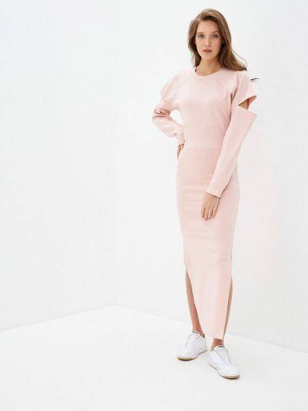 Платье розовое платье-толстовка Malaeva