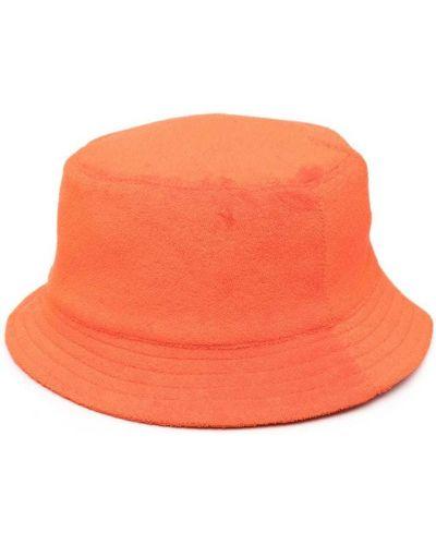 Prążkowany pomarańczowy kapelusz bawełniany Anglozine