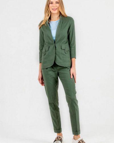 Костюмный зеленый брючный костюм Key