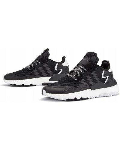 Czarny joggery zasznurować Adidas