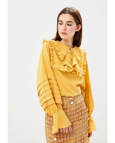 Желтая блузка с рюшами Sister Jane