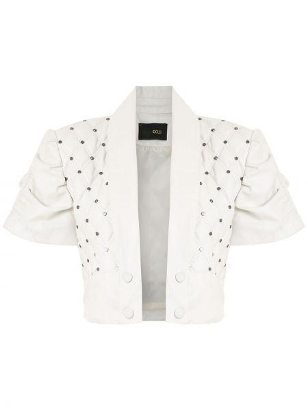 Белая кожаная куртка Andrea Bogosian