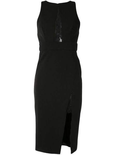 Черное платье миди без рукавов с разрезом Jay Godfrey