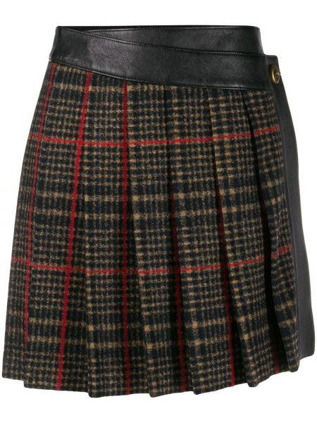 Юбка мини с запахом шотландка Coach