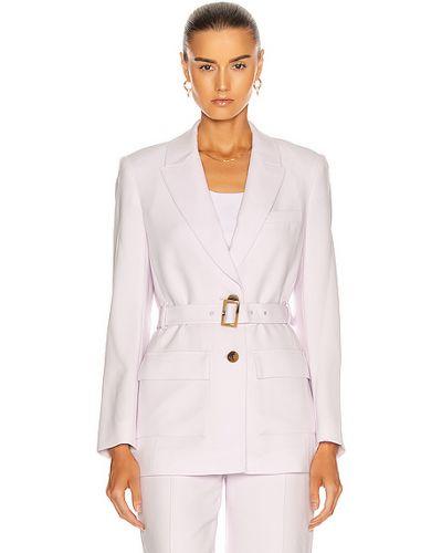 Малиновый классический пиджак с карманами сафари Jonathan Simkhai
