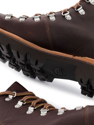 Кожаные коричневые ботинки на шнуровке Grenson