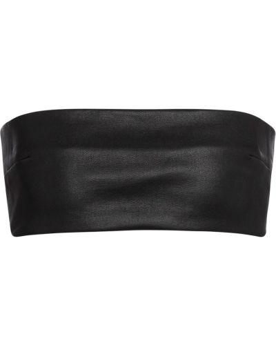 Кожаный черный бралетт Ann Demeulemeester