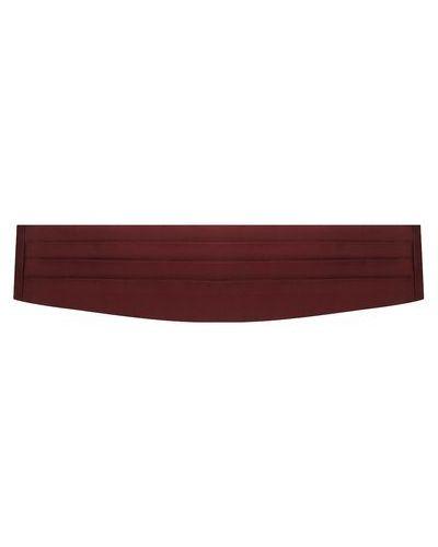 Красный шелковый камербанд Corneliani