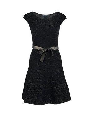 Коктейльное платье черное Luisa Spagnoli
