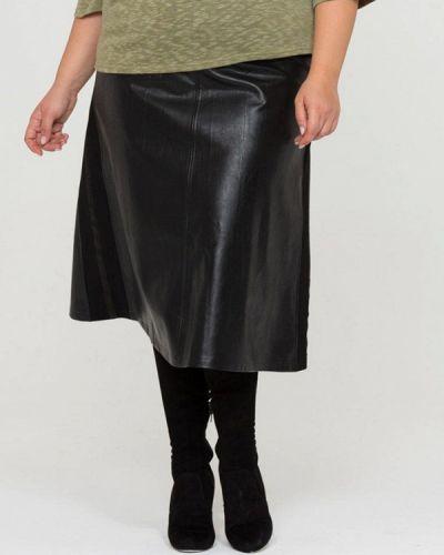 Кожаная юбка осенняя Intikoma