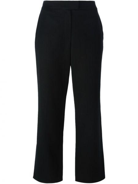 Черные укороченные брюки винтажные с поясом Givenchy Pre-owned