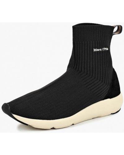 Черные высокие кроссовки Marc O'polo