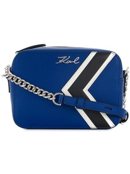Кожаная сумка на цепочке с логотипом Karl Lagerfeld
