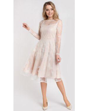 Вечернее платье с вышивкой сетчатое на молнии из вискозы Filigrana