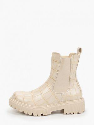 Бежевые кожаные ботинки La Bottine Souriante
