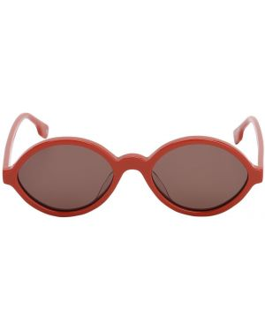 Pomarańczowe okulary Le Specs