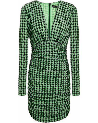 Трикотажное платье мини - зеленое David Koma