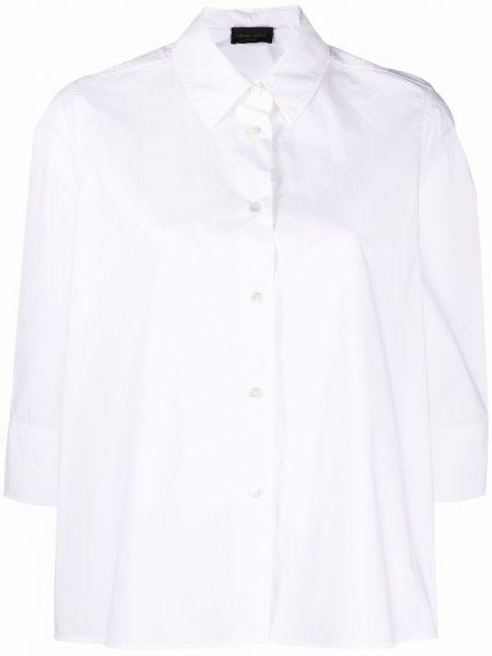 Хлопковая белая рубашка с воротником Roberto Collina