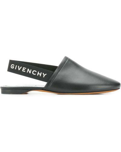 Muły skórzany elastyczny Givenchy