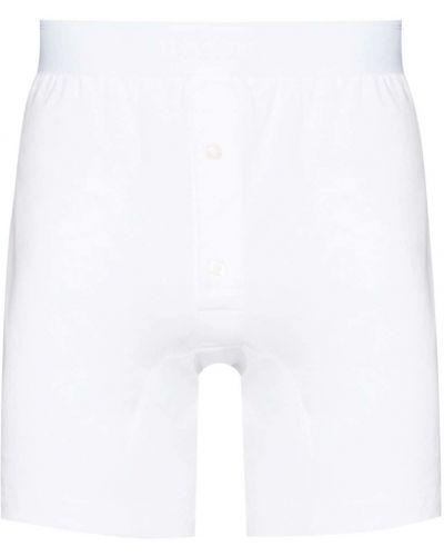 Белые хлопковые шорты Sunspel