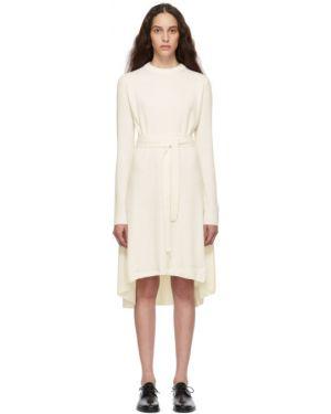 Платье макси вязаное с отложным воротником Helmut Lang