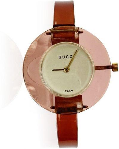Klasyczny różowy złoty zegarek mechaniczny Gucci Vintage