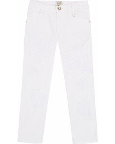 Прямые джинсы классические с аппликацией Armani Junior