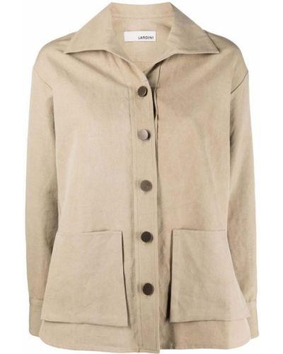 Хлопковый удлиненный пиджак с воротником на пуговицах Lardini