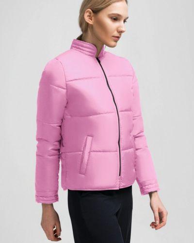 Утепленная куртка весенняя розовая Grass