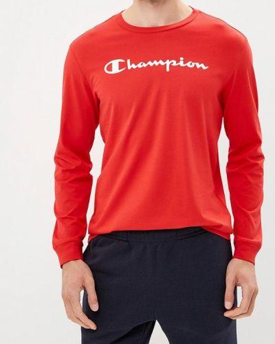 Красный лонгслив Champion