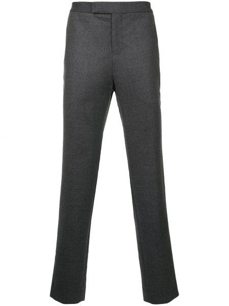 Шелковые серые укороченные брюки пэчворк Tomorrowland