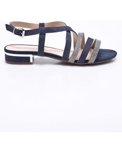 Сандалии на каблуке текстильные Caprice